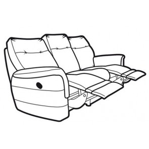 Hudson 3 Seater Double Power Recliner
