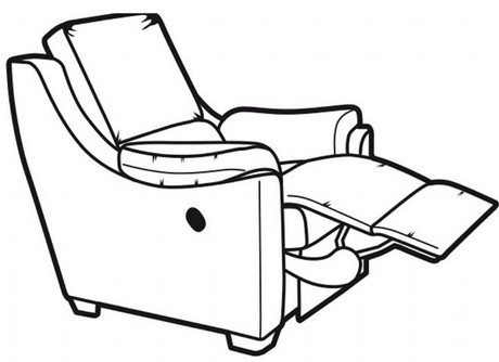 Albany Manual Recliner w Side Panels
