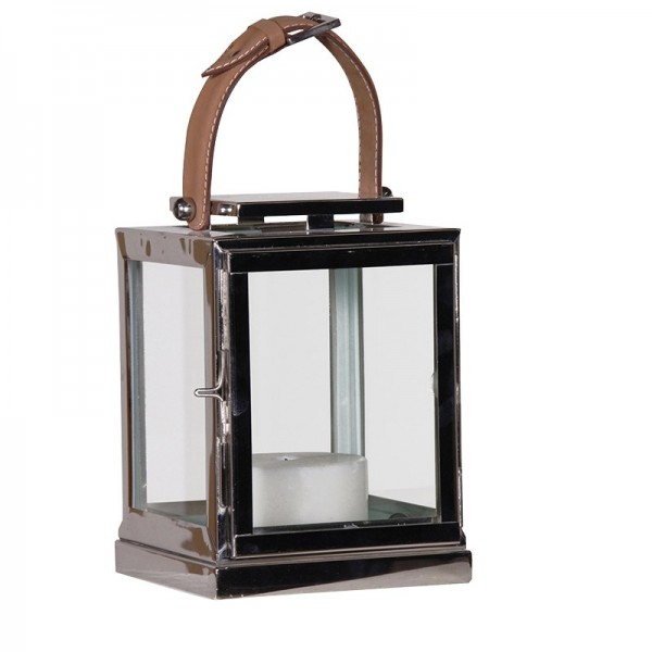 Nickel Finish Buckle Lantern