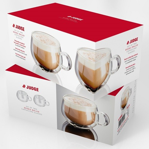 Judge Set of 2 Cappuccino Glass