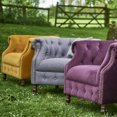 Jude Velour Accent Chair
