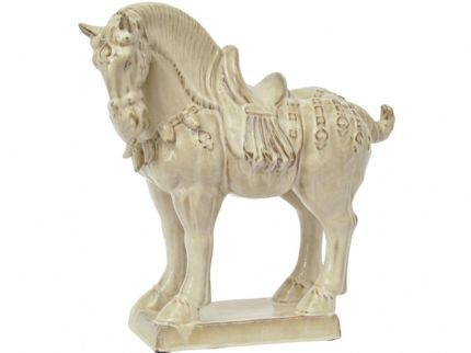Large Cream Ming Horse