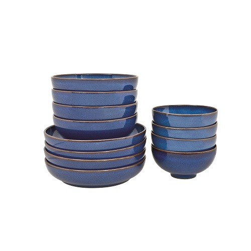 Denby Imperial Blue 12 Piece Bowl Set