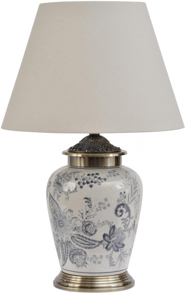 Petra Blue & White Lamp Small