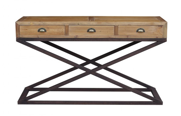 Hudson Bay 3 Drawer Console Table