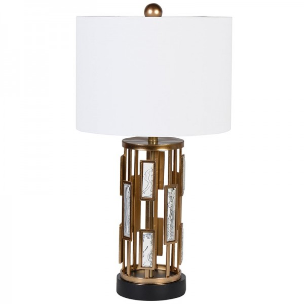 Marble Effect Insert Table Lamp