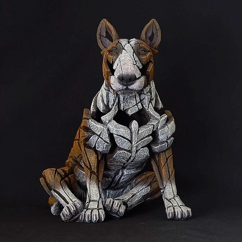 Bull Terrier Edge Sculpture - Red