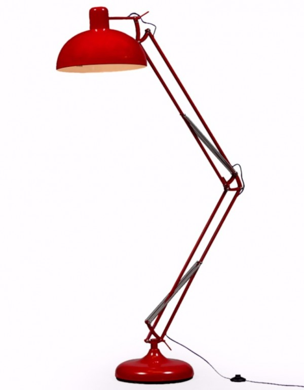 Red XL Classic Desk Style Floor Lamp