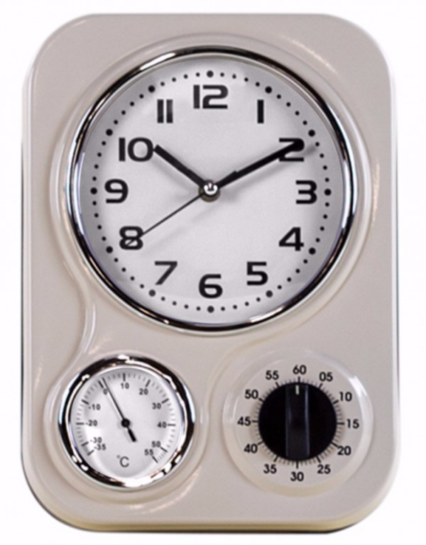 Retro Cream Kitchen Clock