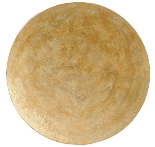 Burnished Gold Abstract Wall Disc Large