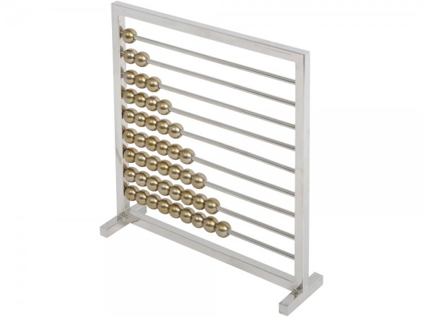 Morez Stainless Steel & Brass Abacus