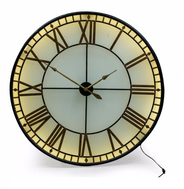 Black & Gold Westminster Wall Clock