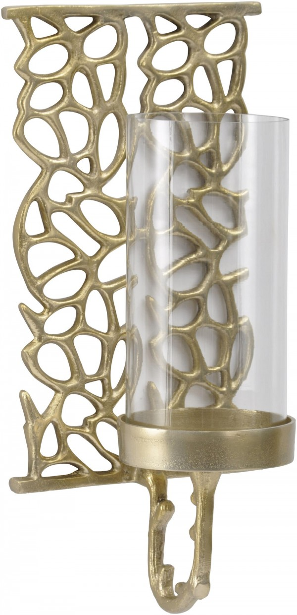 Coral Cage Medium Gold Wall Sconce
