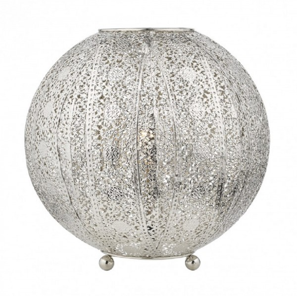 Bazar Filigree Globe Table Lamp