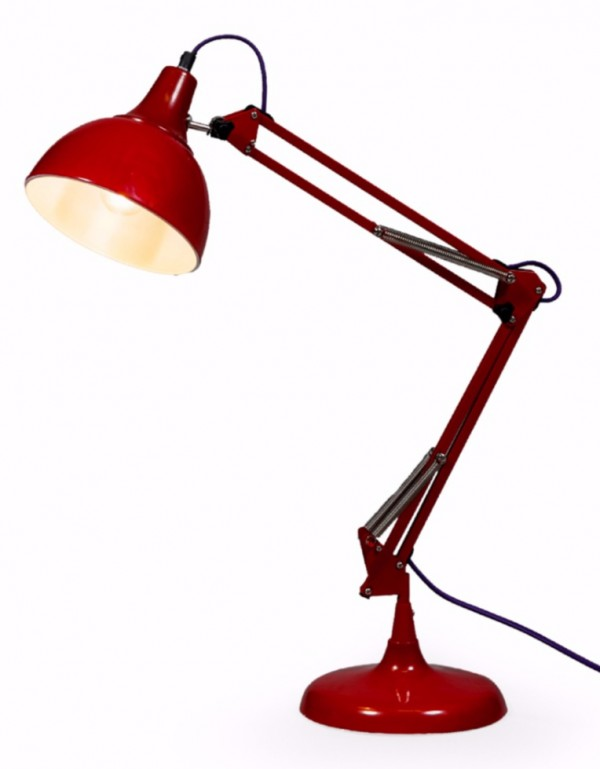 Red Traditional Desk Lamp