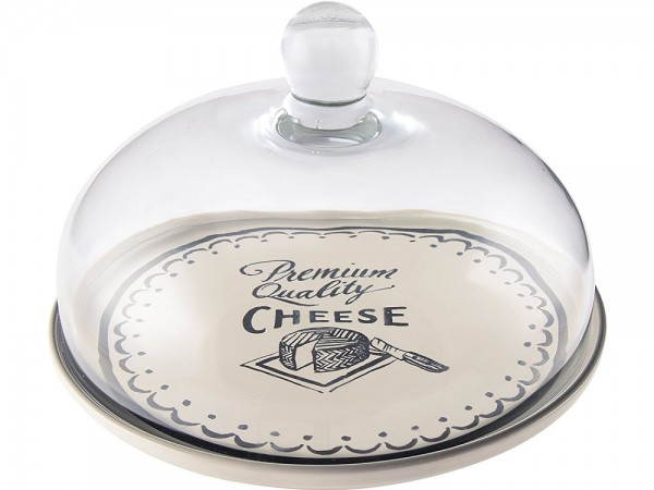 Gourmet Cheese Glass Dome & Plate