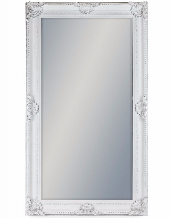 Large White Rectangular Classic Mirror