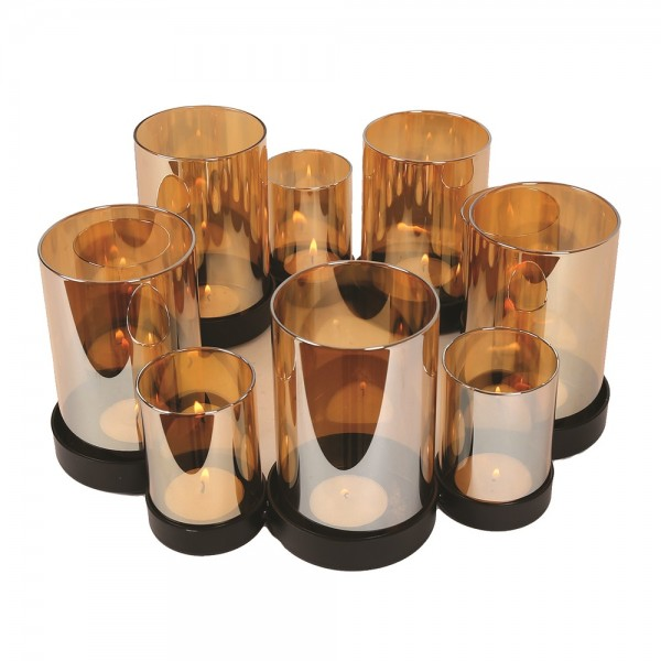 Amber Luster Candle Holder