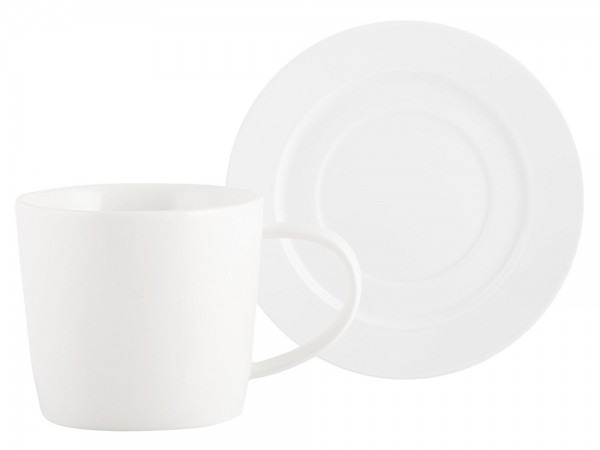 Mikasa Whiteware Cup & Saucer