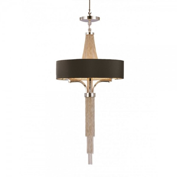 Langan Chandelier with Black Shade