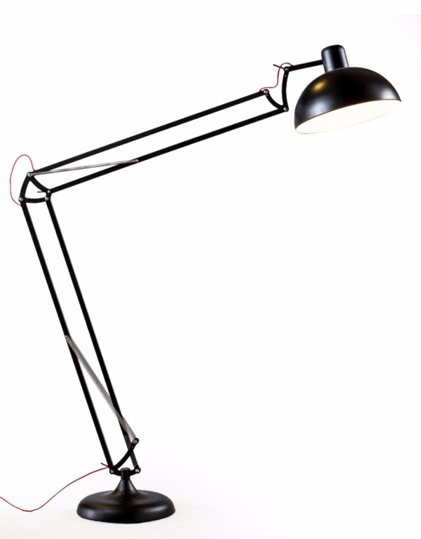 Matt Black XXL Desk Style Floor Lamp