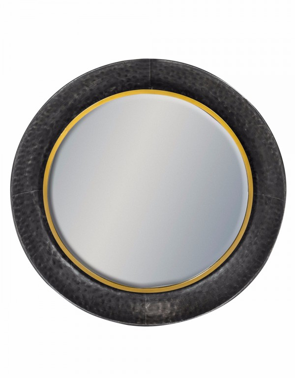 Round Lincoln Wall Mirror Large