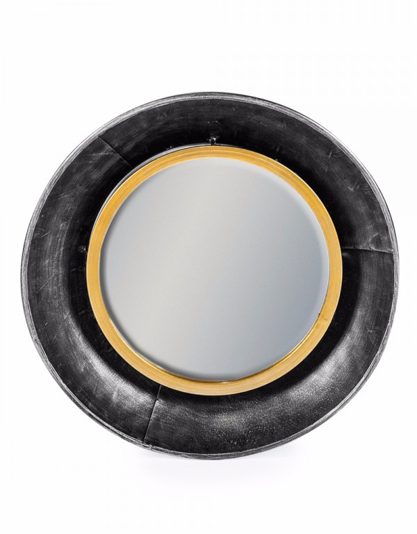 Round Lincoln Wall Mirror Small