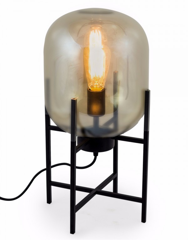 Gold Glass Edison Table Lamp