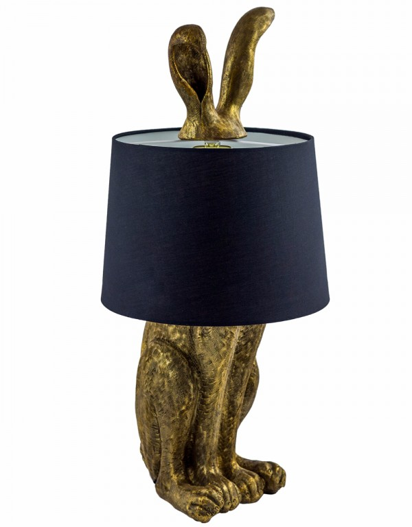 Antique Gold Rabbit Ears Table Lamp