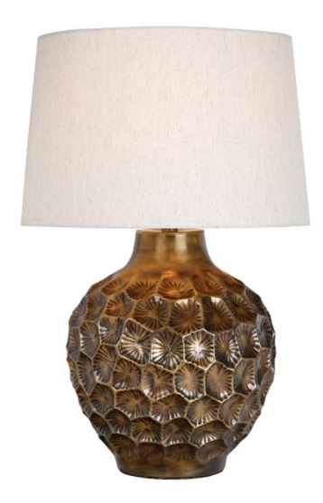 Edvard Antique Bronze Table Lamp
