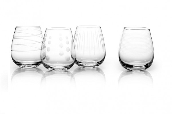 Mikasa Cheers Set of 4 Stemless Wine
