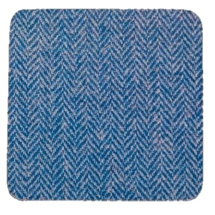Blue Herringbone Coaster