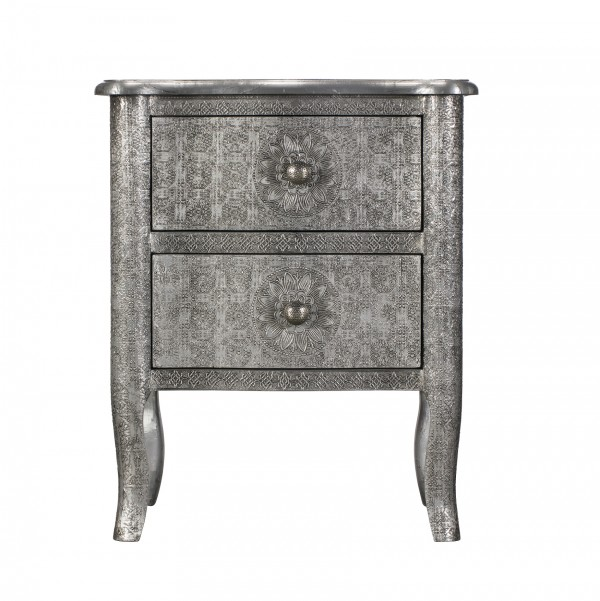 Tiffany 2 Drawer Bedside Chest