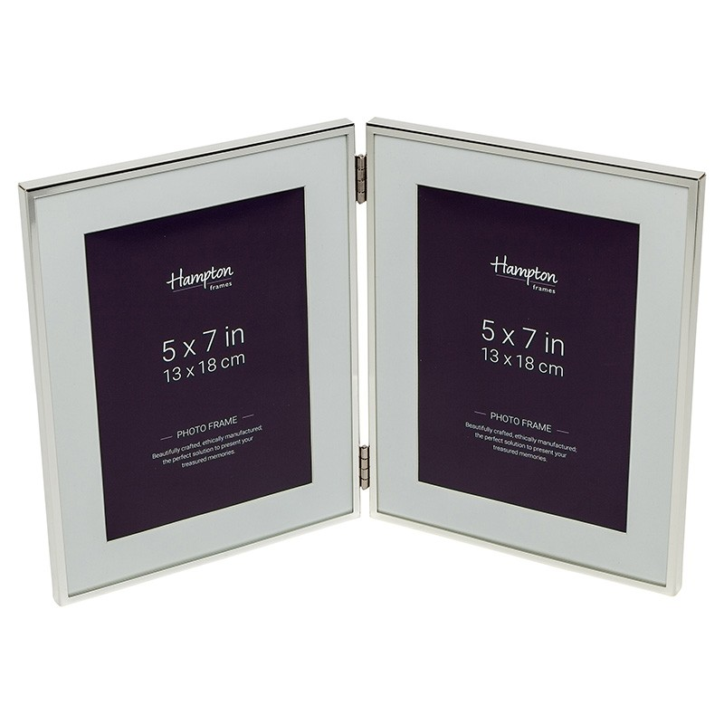 Mayfair Silver 5x7 Hinged Double Frame | Gillies