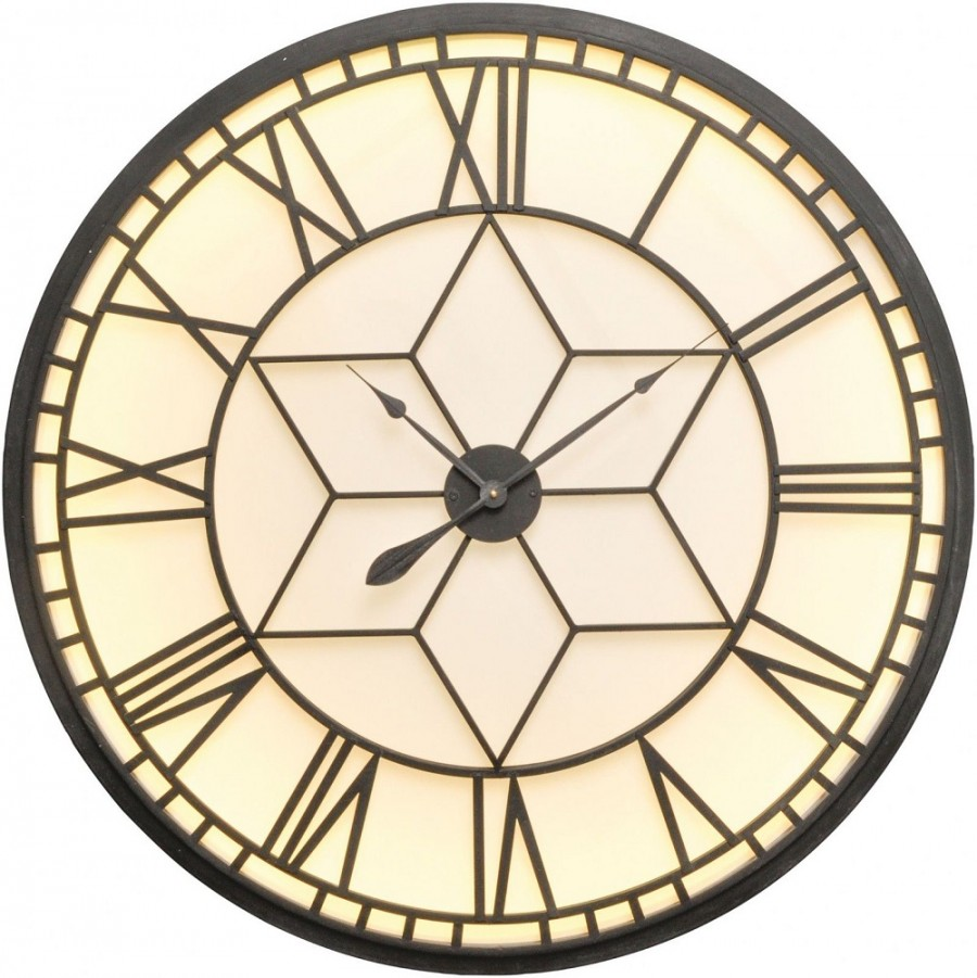 Oversized Backlit Wall Clock Gillies