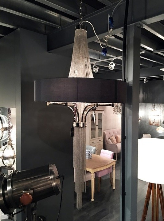 Langan Chandelier With Black Shade Zoom