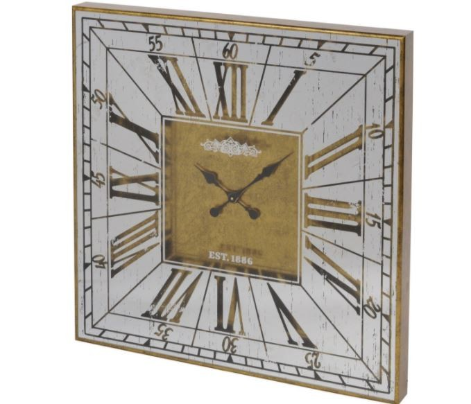 Vienna Antique Gold Mirrored Wall Clock Gillies
