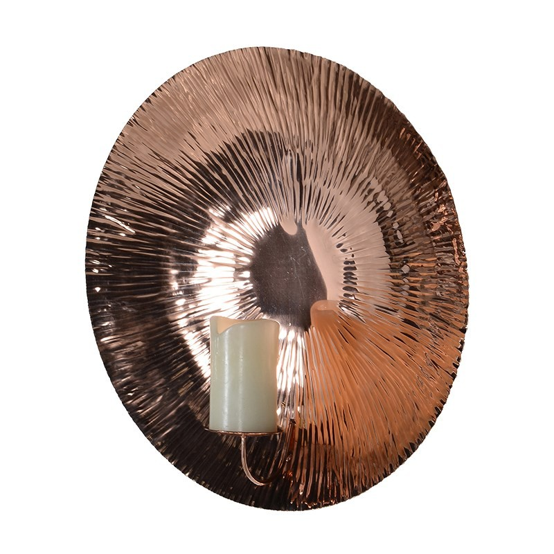 Shiny Copper Wall Sconce Gillies