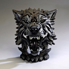 Edge Wolf Bust - Timber