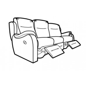 Boston 3 Seater Double Power Recliner