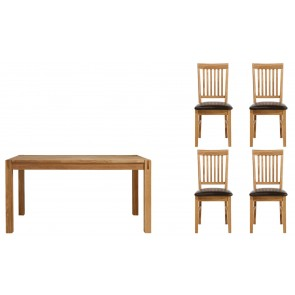 Royal Oak 140cm Dining Set