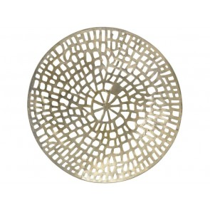Gold Coral Cage Round Wall Art