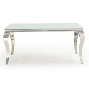 Glamour White 160cm Dining Table