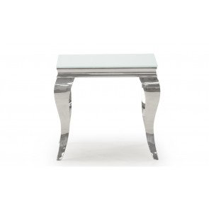 Glamour White Lamp Table