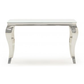 Glamour White Console Table