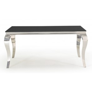 Glamour Black 160cm Dining Table