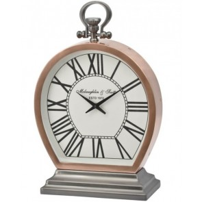 Charleston Copper Small Round Clock