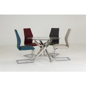 Tivoli Circular Table + 4 Elis Chairs