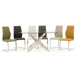 Tivoli Rectangular Table + 4 Elis Chairs