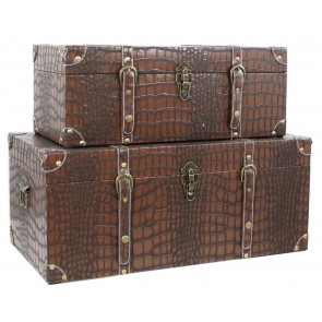 Around the World Croc Skin Chest Set